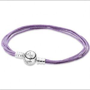 Pandora purple cord bracelet